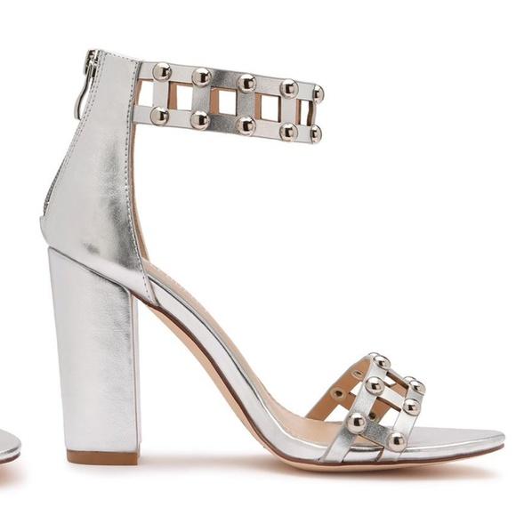 c118ca4959 Olivia Miller Shoes   Womens Studded Chunkyheeled Sandal   Poshmark